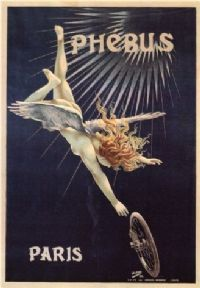 Vintage French advertisment poster - Phebus cycles Paris